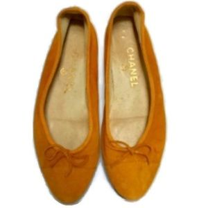 Chanel Suede Ballet Flats Size 37/7 US